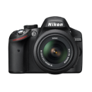 Nikon D3200 With 18-55 Lens Camera bag Memory card