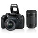 Canon EOS 200D Kit (EF-S18-55 IS STM & EF-S55-250 IS STM) with Camera Bag and 16GB Card