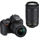 Nikon D3500 AF-P DX NIKKOR 18-55mm f/3.5-5.6G VR + AF-P DX NIKKOR 70-300mm f/4.5-6.3G ED VR With DSLR bag and 16gb memory card