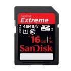 SanDisk Extreme HD Video SDHC 16 GB 45MB/s UHS-I Class 10 Memory Card